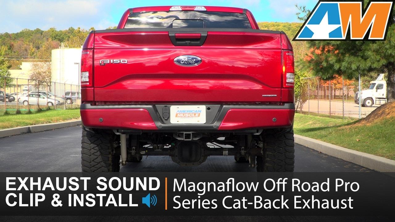 F150 5 0l magnaflow off road pro series cat back exhaust sound clip install 2015 2017