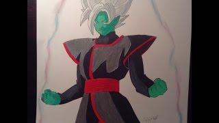 Como Dibujar la Fusion de Black y Zamasu/How to Draw Black and Zamasu Fusion