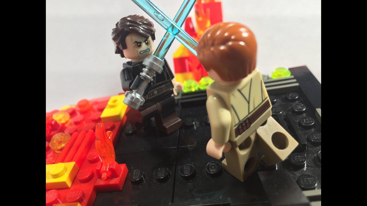 Lego Duel On Mustafar Moc Revenge Of The Sith Youtube