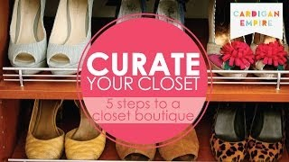 How to Clean Your Closet: 5 Steps to an Organized Closet Boutique Thumbnail