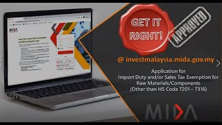 Webinar on Application for Import Duty and/or Sales Tax Exemption