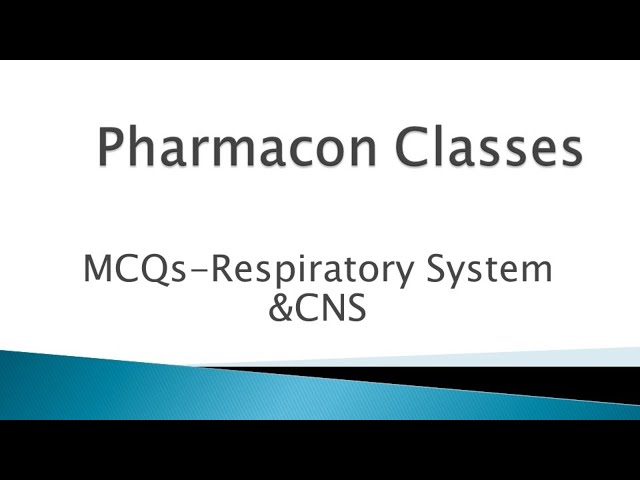 MCQ Discussion of Respiratory system & CNS