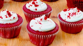 Easy Red Velvet Cupcakes with Cream Cheese Icing Recipe  Red Velvet Cupcakes  Flavourful Food