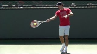 Roger Federer Forehand in Super Slow Motion - BNP Paribas 2013