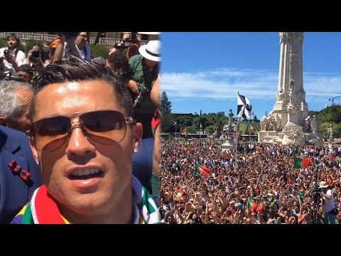 Portugal return with Euro 2016 trophy, Ronaldo post video of royal reception| Oneindia News