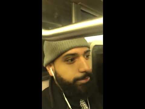 Good Samaritan' NYC Subway citizen's arrest woman attacking passengers racial slurs Platanoman viral