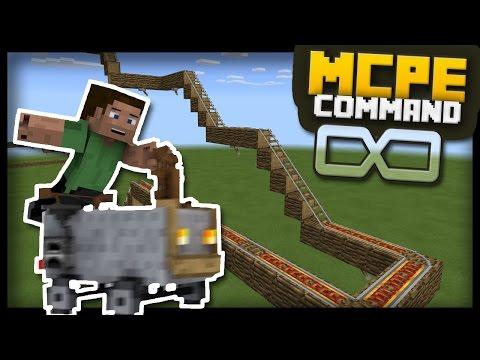 MCPE - Infinite Roller Coaster Generator with command blocks!