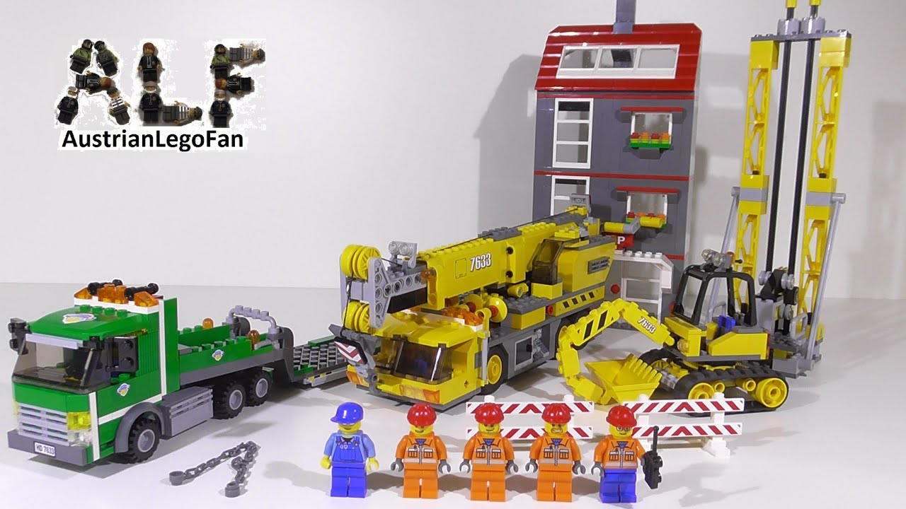 lego city 7633 construction site baustelle lego speed build review youtube. Black Bedroom Furniture Sets. Home Design Ideas