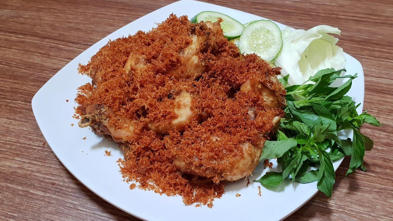 Resep Ayam Goreng Serundeng - YouTube