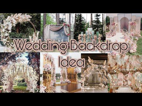 DIY | WEDDING BACKDROP IDEAS| !!