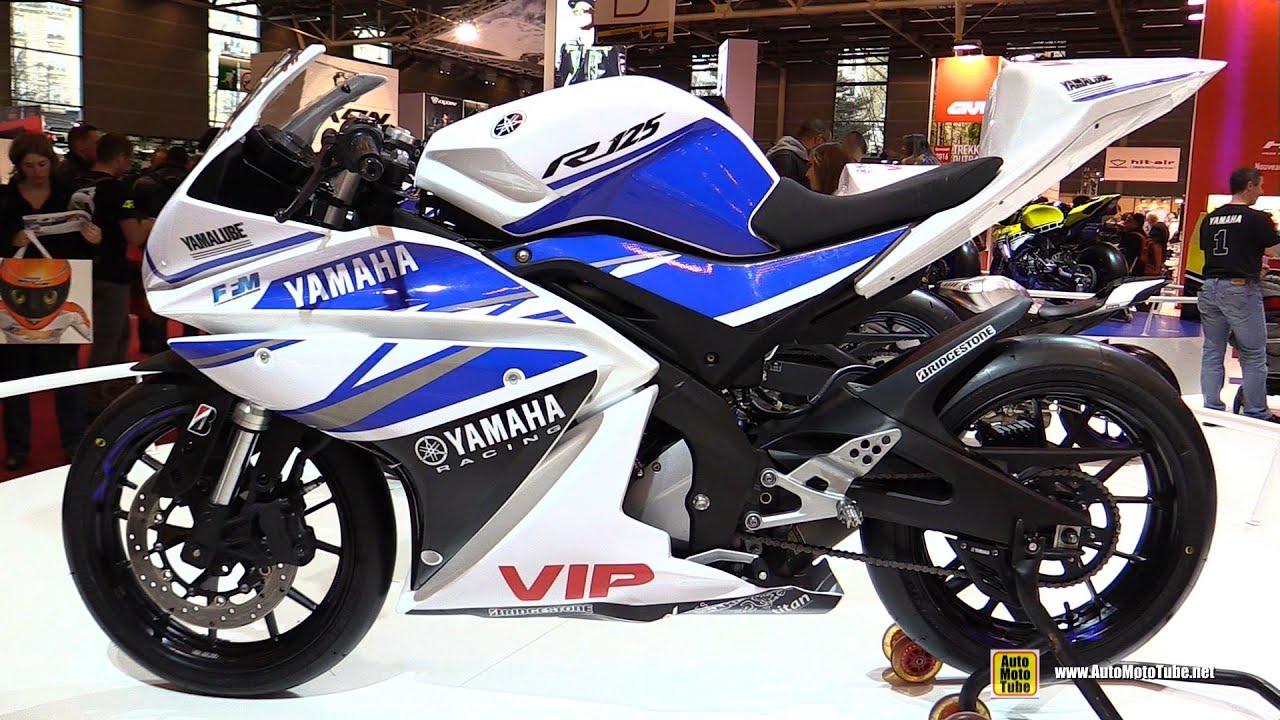 moto yamaha bike. 2016 Yamaha R125 Racing Bike - Walkaround 2015 Salon De La Moto Paris