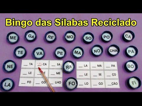 Bingo Das Silabas Reciclado Youtube