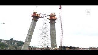 Obras del primer puente atirantado de Chile continúan detenidas -  CHV Noticias