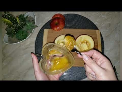 Запеченные яблоки  в микроволновке. С мёдом и орешками. Супер быстрый десерт на все случаи жизни.