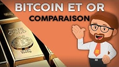 COMPARAISON DU BITCOIN ET DE L'OR