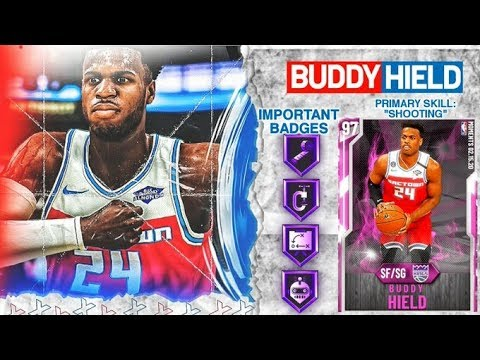 PINK DIAMOND BUDDY HIELD GAMEPLAY! 3 POINT CONTEST CHAMP IS GOATED IN NBA 2k20 MyTEAM