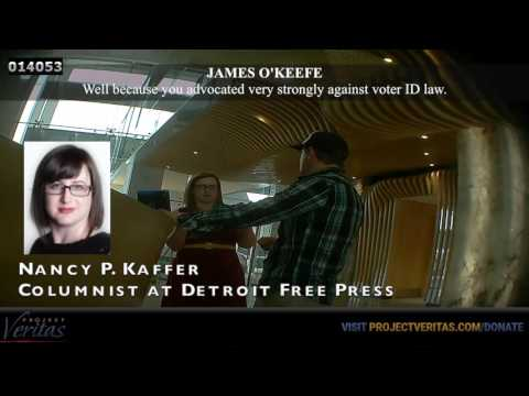 James O'Keefe Confronts Nancy Kaffer of Detroit Free Press About Obtaining Her Ballot