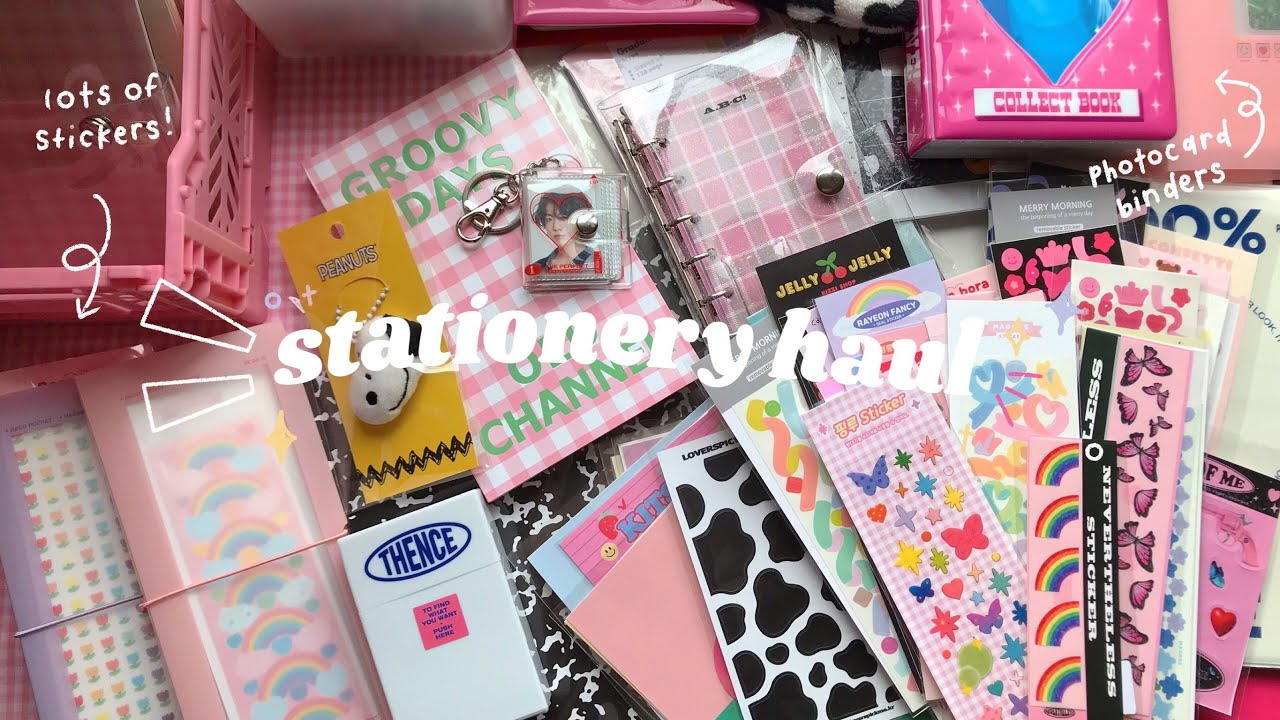 huge stationery haul📓 🌷