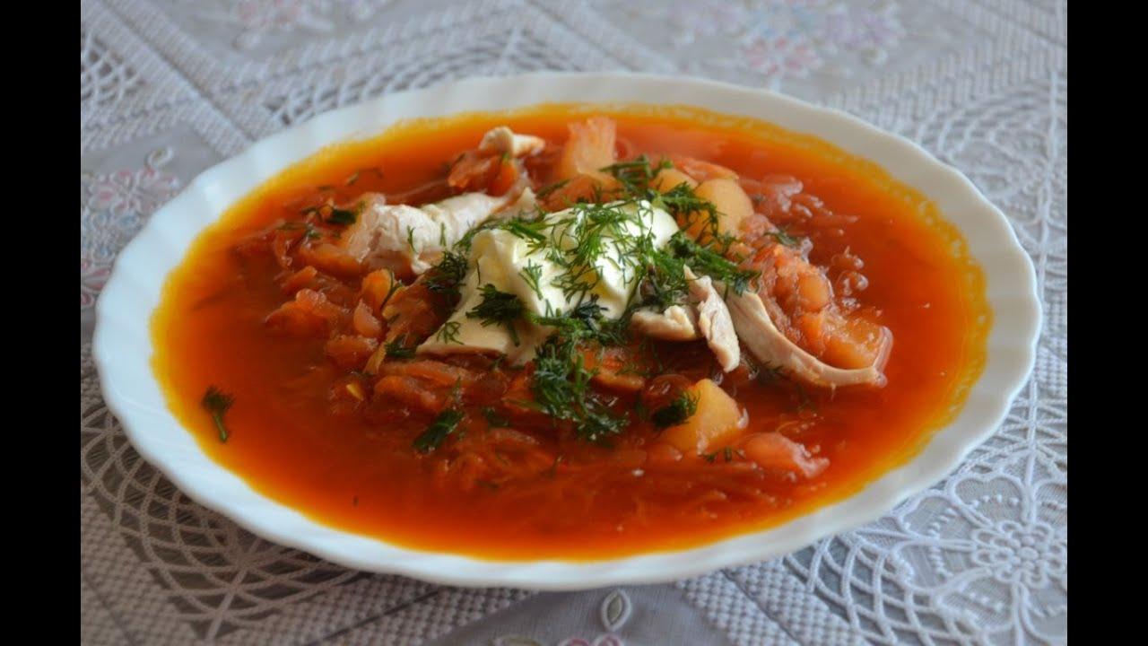 Приготовить борщ из курицы пошаговый рецепт с фото