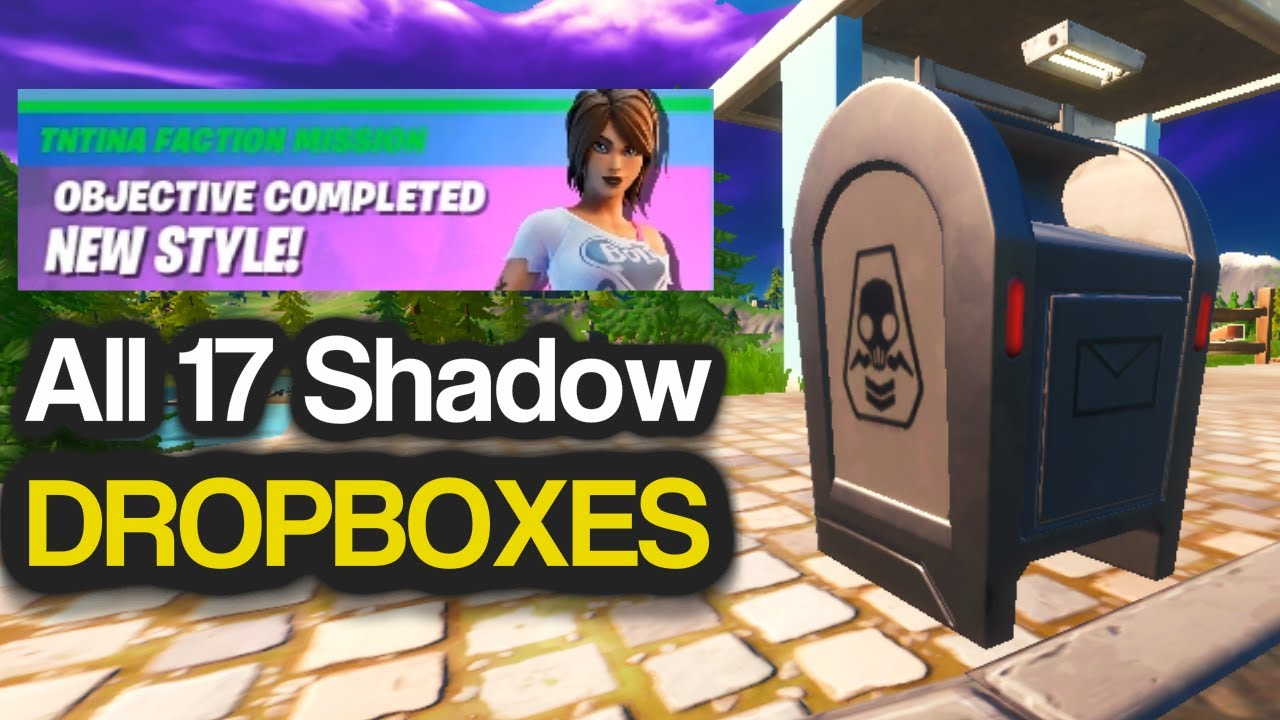 Destroy Shadow Dropboxes Using Explosives All Shadow Dropboxes