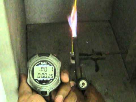 Flammability test