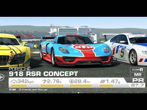full download real racing 3 tuning porsche 918 spyder concept race. Black Bedroom Furniture Sets. Home Design Ideas