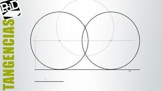 Circunferencia tangente a una recta, conociendo su radio y un punto de ella.