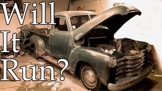 1949 Chevy 3100 Will it Run? First start in 30 Years