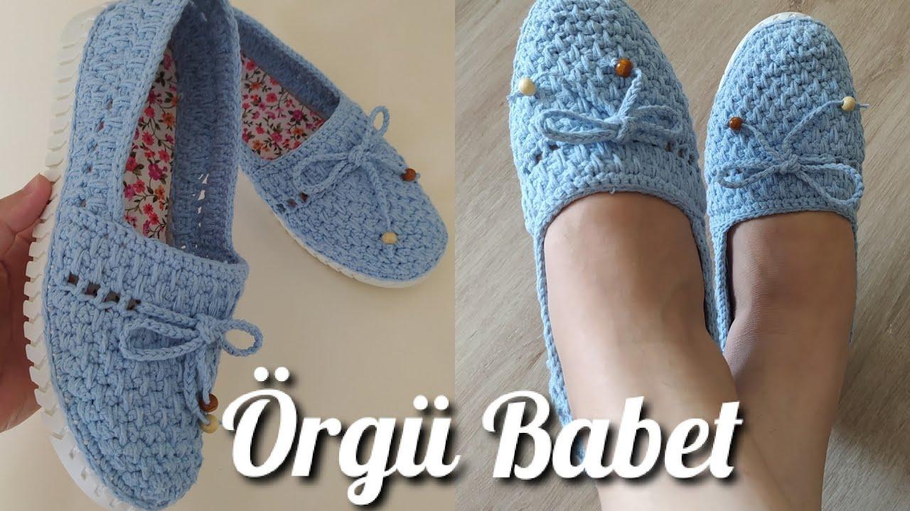 Yeni Model Örgü Babet Yapımı / Örgü Ayakkabı Yapımı / zapatos shoes knitting / Model Ayşe Varol