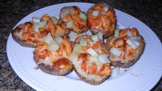Jus4sweetz Buffalo Chicken Potato Skins
