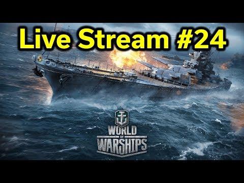 World of Warships - Stream #24 - FREE Premium Ships!
