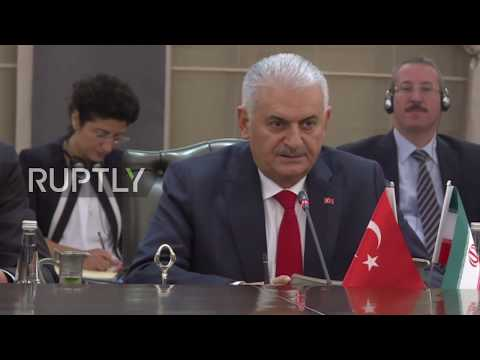Turkey: Iranian VP greeted by PM Yilidrim in Ankara