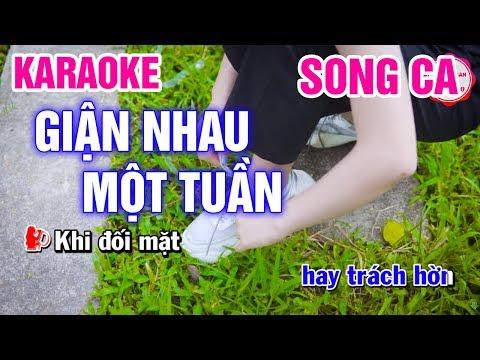 Karaoke Giận Nhau Một Tuần  |❤️☘️ngọc huệ & Bảo Trọng