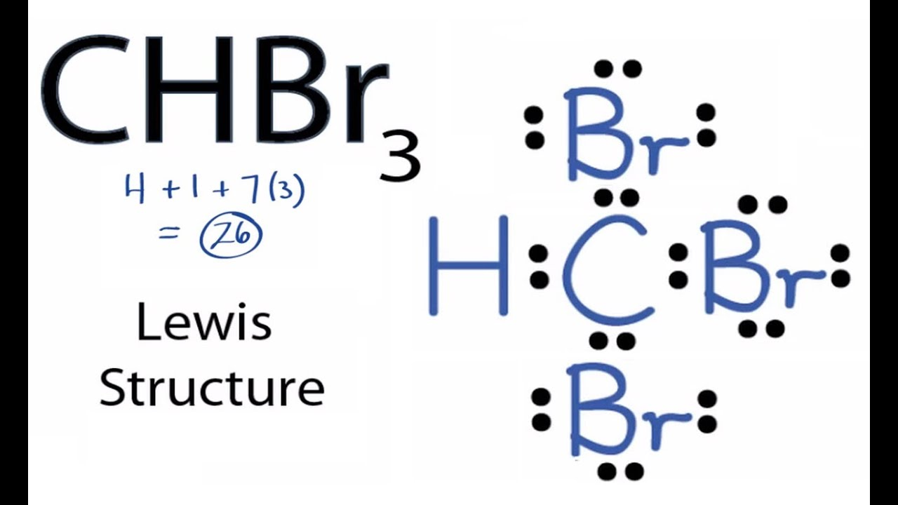 chbr3 lewis structure how to draw the lewis structure for chbr3chbr3 lewis structure how to draw [ 1280 x 720 Pixel ]