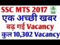 SSC MTS 2017 , SSC MTS  VACANCY INCREASED , बढ़ गई MTS की Vacancy एक अच्छी खबर
