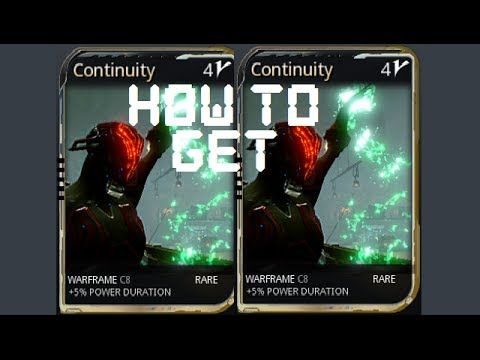Warframe - How To Get The Continuity Mod from YouTube · Duration:  1 minutes 37 seconds