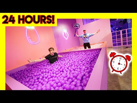OVERNIGHT IN MODERN ART MUSEUM ball pits