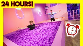OVERNIGHT IN MODERN ART MUSEUM! (ball pits)
