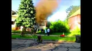 DETROIT FD Arrival footage Rohns Ave July 4, 2014