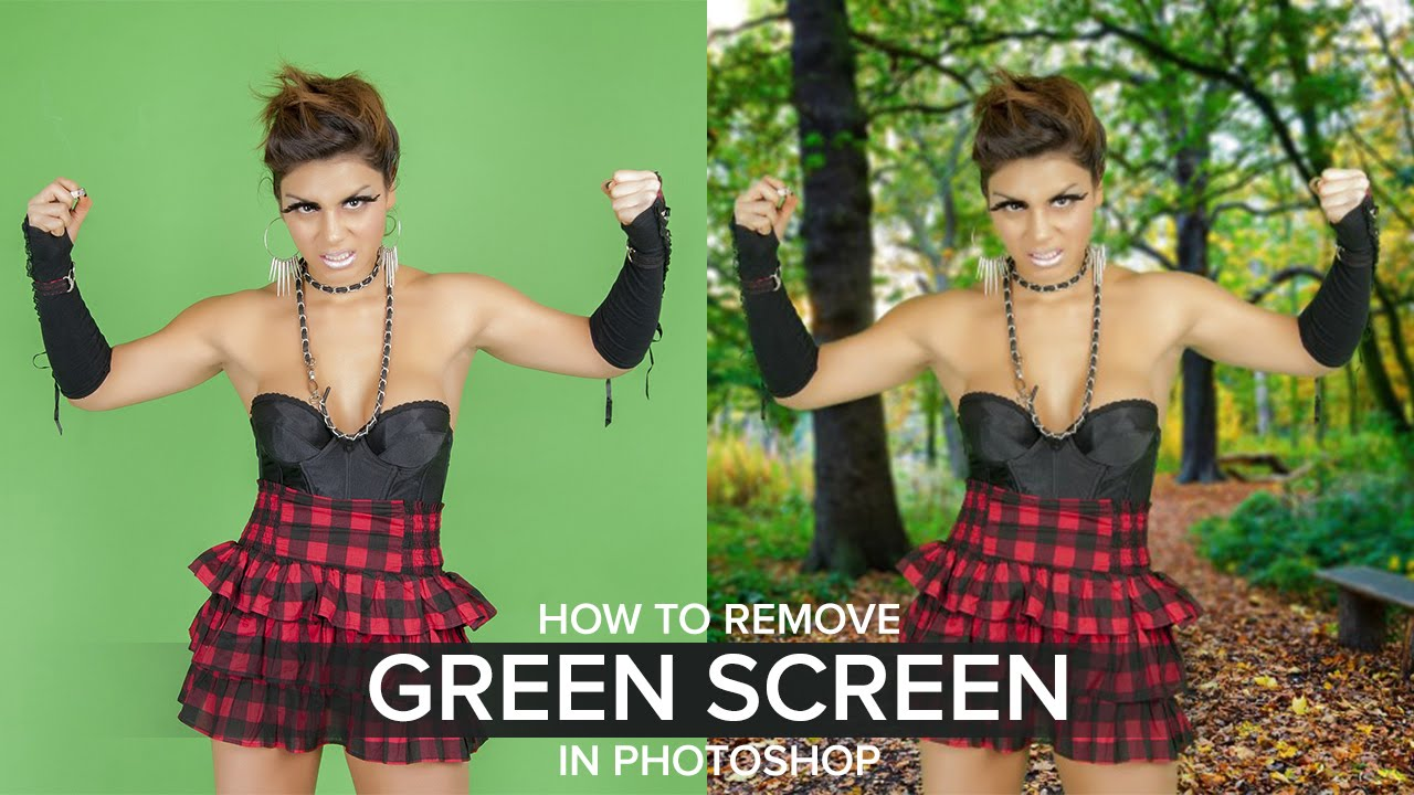 how to remove green screen background in photoshop youtube