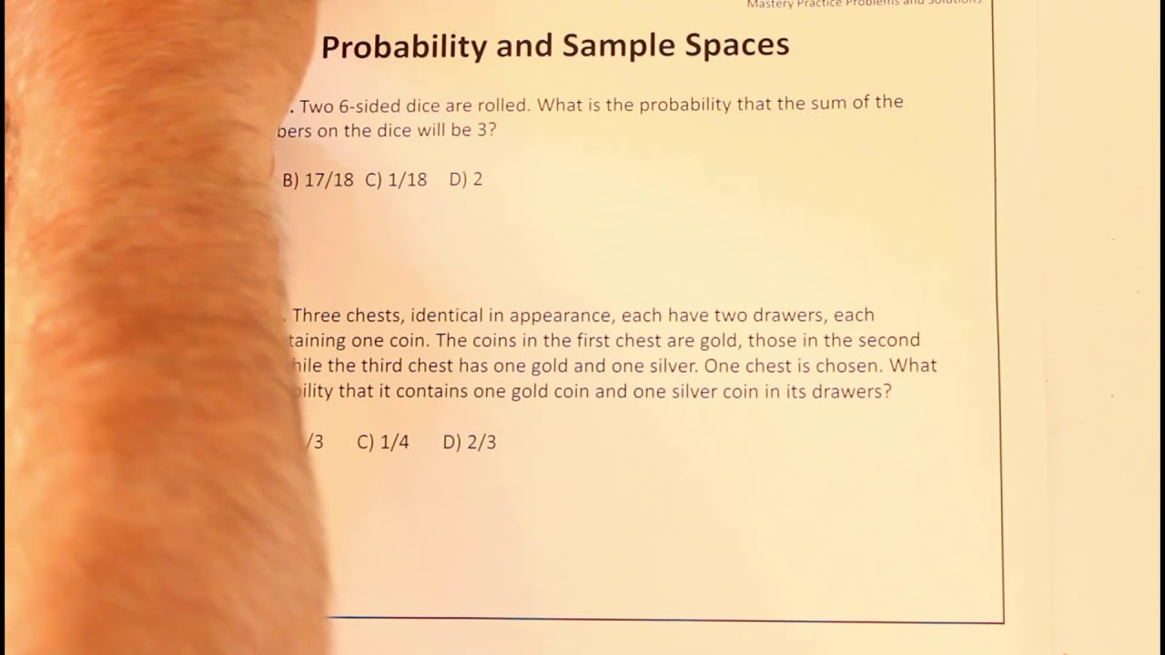 classic probability and sample spaces  youtube