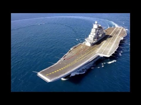 Indian Armed Forces - INS Vikramaditya (R-33) Aircraft Carrier Sea Trials [480p]