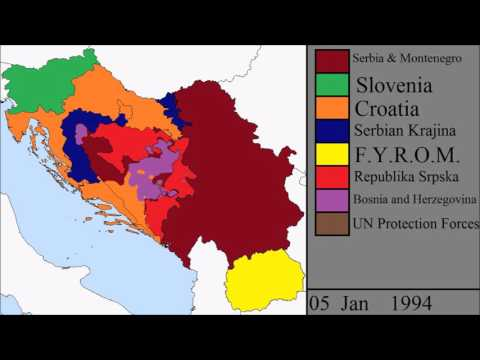 The Breakup of Yugoslavia: Every Week