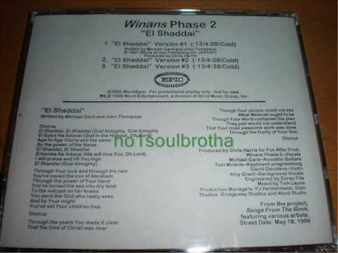 "Winans Phase 2 ""El Shaddai"" (Version #1) (90's Gospel R&B)"
