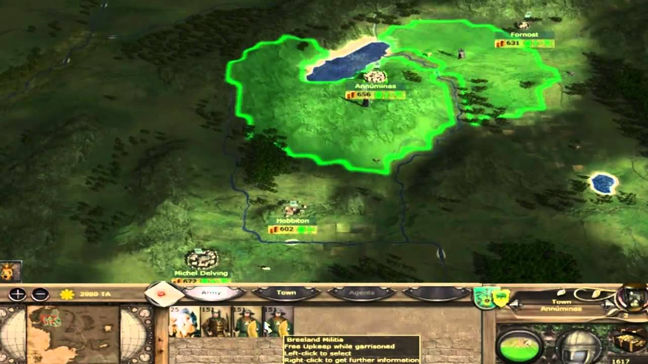 Let's play Third age total war Free People of Eriador Part 1 HD [No Com]