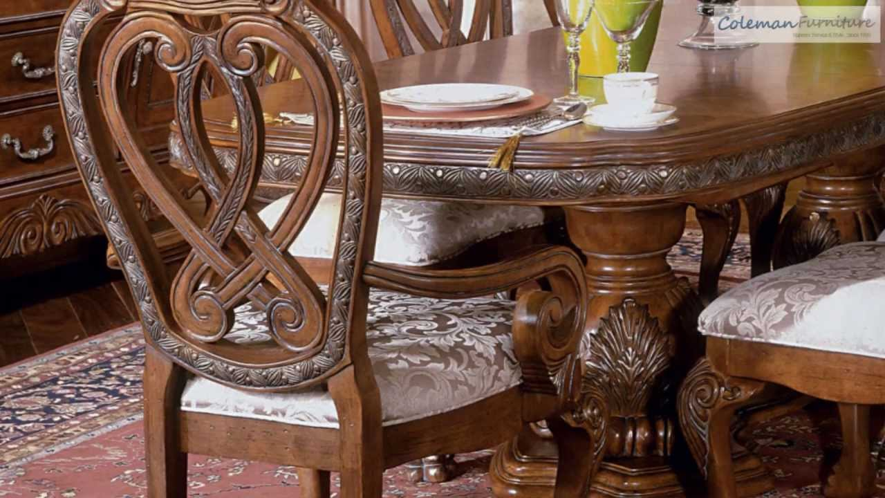 Eden Amaretto Dining Room Collection From Aico Furniture - YouTube