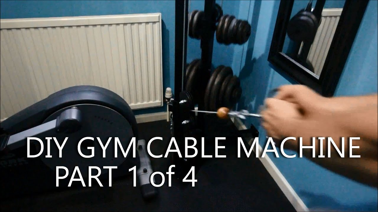DIY Gym Cable Machine  Full Build Log  Part 1of4  YouTube