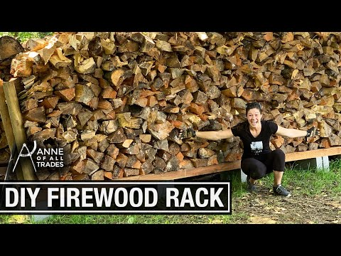 How To Cut, Split, Stack And Dry Firewood // Homesteading