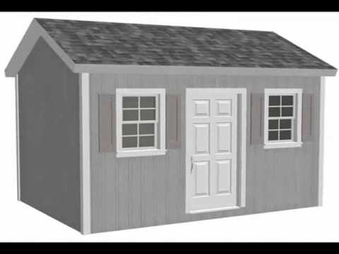 Garden Sheds 10 X 8 free playhouse plans - g473 10 x 14 x 8 garden shed plan or - youtube