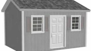 Free Playhouse Plans - G473 10 X 14 X 8 Garden Shed Plan Or